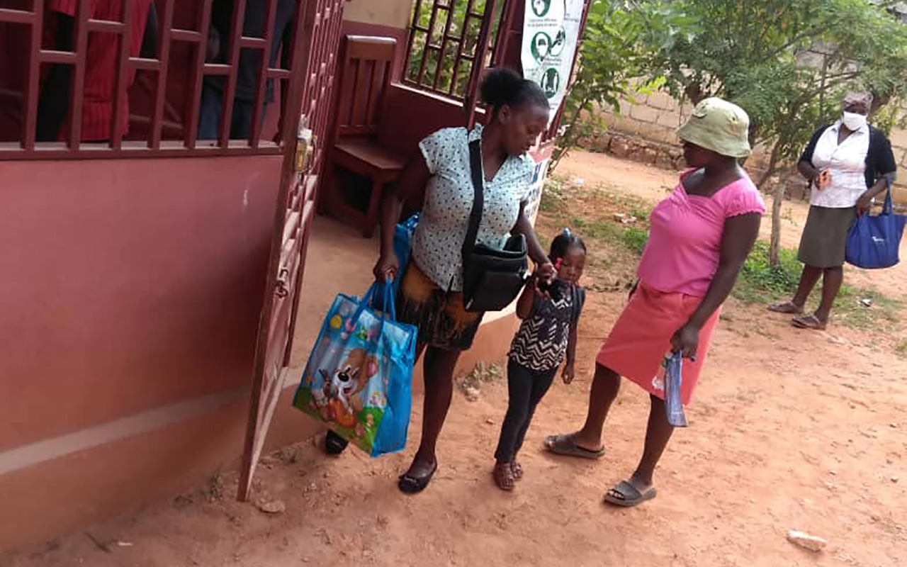 Families of children registered with Compassion receive hygiene kits